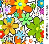seamless floral pattern. mix of ... | Shutterstock .eps vector #147584531
