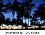 sunset at carita | Shutterstock . vector #14758456