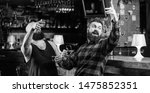hipster brutal bearded man... | Shutterstock . vector #1475852351
