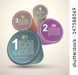 circle tube with number for... | Shutterstock .eps vector #147588569
