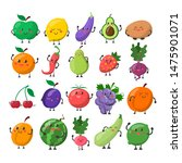 Funny Cute Fruit And Vegetable...