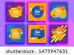 set of sale banner template... | Shutterstock .eps vector #1475947631