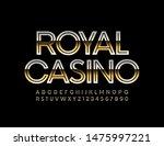 vector elite logo royal casino...   Shutterstock .eps vector #1475997221
