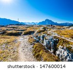 trenches at monte piana ... | Shutterstock . vector #147600014