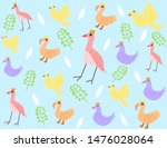 there are birds  chickens and... | Shutterstock .eps vector #1476028064