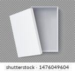 white box mock up  top view... | Shutterstock .eps vector #1476049604