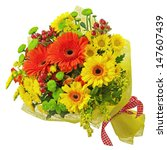 Colorful Bouquet From Gerbera...