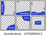 set of editable square banner... | Shutterstock .eps vector #1476084611
