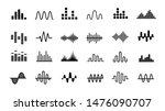 Set Of Radio Wave Icons....