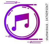 music icon in modern style | Shutterstock . vector #1476091067