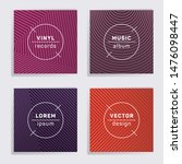 cool vinyl records music album... | Shutterstock .eps vector #1476098447