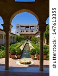 Small photo of Cortyard de la Acequia of Generalife, Granada, Spain