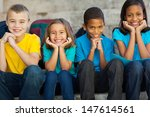 cheerful primary school... | Shutterstock . vector #147614561
