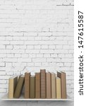 books on the bookshelf are and... | Shutterstock . vector #147615587