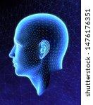 3d rendering human head xray...   Shutterstock . vector #1476176351