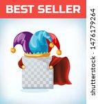 jester cap. fool hat. april... | Shutterstock .eps vector #1476179264