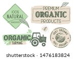 organic food  farm fresh and... | Shutterstock .eps vector #1476183824