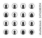 vector set of user silhouette... | Shutterstock .eps vector #1476188354
