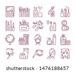 cosmetic products and... | Shutterstock .eps vector #1476188657