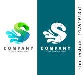 s letter logo  logo letter s... | Shutterstock .eps vector #1476191351