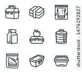 school lunch box icon set....   Shutterstock .eps vector #1476192827