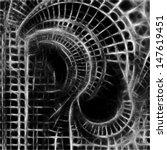abstract vector monochrome... | Shutterstock .eps vector #147619451