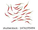 chilli isolated on white... | Shutterstock . vector #1476195494