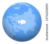 kazakhstan on the globe. earth... | Shutterstock .eps vector #1476203054