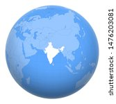 india on the globe. earth... | Shutterstock .eps vector #1476203081