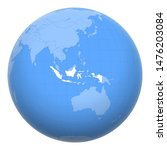 indonesia on the globe. earth... | Shutterstock .eps vector #1476203084