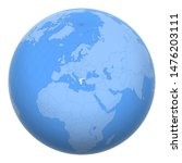 greece  hellas  on the globe....   Shutterstock .eps vector #1476203111