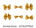 holiday golden bow. color eve... | Shutterstock .eps vector #1476229964