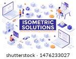 bundle of isometric design... | Shutterstock .eps vector #1476233027