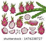 dragon fruit vector set with...   Shutterstock .eps vector #1476238727