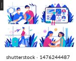 set of medical insurance... | Shutterstock .eps vector #1476244487