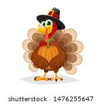 Thanksgiving Day. Funny Cartoo...