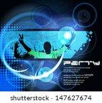 vector background. dancing...   Shutterstock .eps vector #147627674