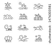 set of landscape related vector ...   Shutterstock .eps vector #1476303581