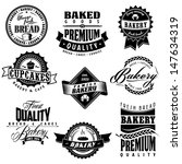 retro bakery labels collections | Shutterstock .eps vector #147634319