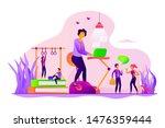 activity  sporty breaks in... | Shutterstock .eps vector #1476359444