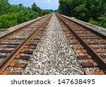 Two Sets Of Railroad Tracks Ru...
