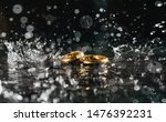 diamond and rings wedding on... | Shutterstock . vector #1476392231