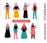 hijab girl fashion style in...   Shutterstock .eps vector #1476406364