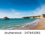 Beach In Biarritz  France