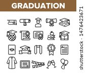 collection graduation thin line ... | Shutterstock .eps vector #1476423671
