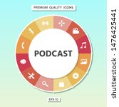 podcast   icon for web and... | Shutterstock .eps vector #1476425441