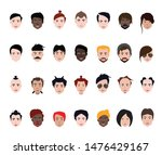 set of people avatars  icons in ... | Shutterstock .eps vector #1476429167