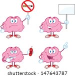 brain cartoon mascot collection ... | Shutterstock .eps vector #147643787