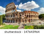 Colosseum In Rome  Italy....
