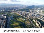 Aerial Panorama Of Taipei  The...